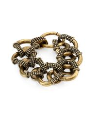 Giles & Brother | Metallic Textured Cortina Link Bracelet | Lyst