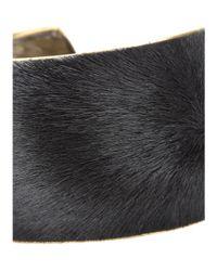 Isabel Marant - Black Calf Hair Cuff - Lyst