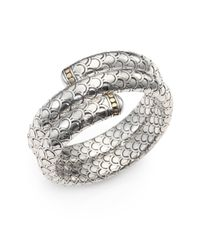 John Hardy - Metallic 18K Yellow Gold & Sterling Silver Dragon Double-Wrap Bracelet - Lyst