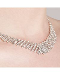 John Lewis - Metallic Diamante Collar And Drop Earrings Set - Lyst