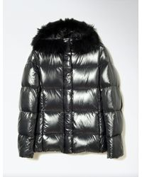 JOSEPH | Gray Fur Nylon New Kelly Coat | Lyst