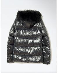 JOSEPH - Gray Fur Nylon New Kelly Coat - Lyst