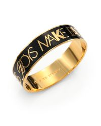 Kate Spade | Metallic Boys Make Passes Enamel Bangle | Lyst