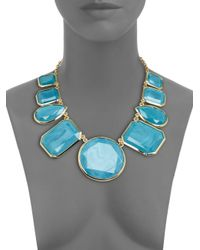 kate spade new york - Blue Bold Stone Necklace - Lyst