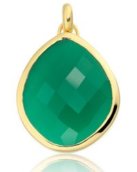 Monica Vinader - Green Large Nugget Pendant - Lyst