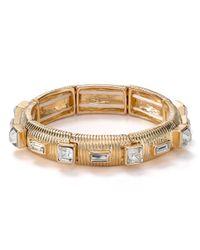 R.j. Graziano | Metallic Stretch Bracelet | Lyst