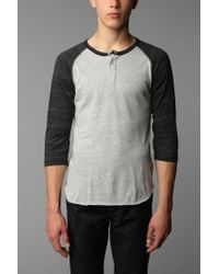 Alternative Apparel | Black 3/4-Sleeve Two-Tone Henley Tee for Men | Lyst