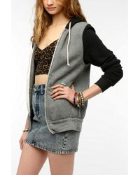 Urban Outfitters | Black Alternative Colorblock Rocky Zipup Hoodie Sweatshirt | Lyst