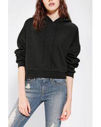 Urban Outfitters - Black Bdg Cropped Hoodie Sweatshirt - Lyst