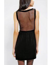 Urban Outfitters - Black Velvet Kitty Face Dress - Lyst