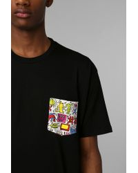 Urban Outfitters | Black Junk Food Haring Pocket Tee for Men | Lyst
