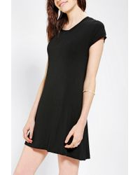 Urban Outfitters - Black Lenni Knit Lace Up Back Tee Dress - Lyst
