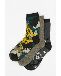 Urban Outfitters | Gray Silence Noise Digi Dragon Sock for Men | Lyst