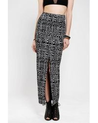 Urban Outfitters - Black Silence Noise Safari Maxi Skirt - Lyst