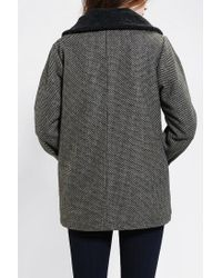 Urban Outfitters - Black Stussy Check Sherpa Trim Jacket - Lyst