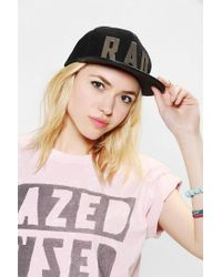 Urban Outfitters - Black This Is A Love Song Badrad Snapback Hat - Lyst