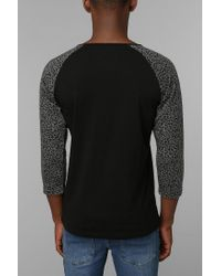 Urban Outfitters - Black Native Youth Leopard Raglan Tee for Men - Lyst