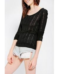 Urban Outfitters | Black Pins and Needles Surplice-Back Top | Lyst