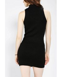 Urban Outfitters | Black Sparkle Fade Sleeveless Mockneck Sweater Dress | Lyst