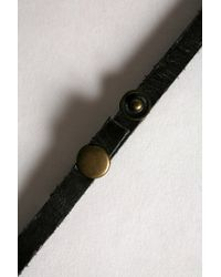 Urban Outfitters - Black Uo Leather Wrap Bracelet for Men - Lyst