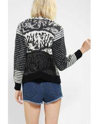 Urban Outfitters | Black Urban Renewal Moto Sweater Jacket | Lyst