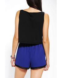 Urban Outfitters - Black Warpaint Mystical Signs Cropped Tank Top - Lyst