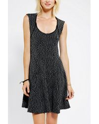 Urban Outfitters - White Silence Noise Textured Open Back Skater Dress - Lyst