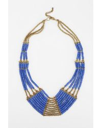 Urban Outfitters | Metallic Fiji Beaded Bib Necklace | Lyst