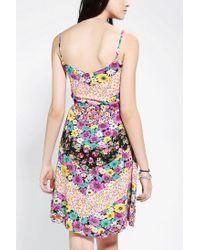 Urban Outfitters | Multicolor Urban Renewal Blossom Chevron Dress | Lyst