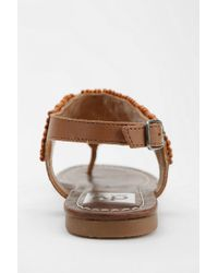 Urban Outfitters - Brown Dv By Dolce Vita Delancey Beaded Thong Sandal - Lyst
