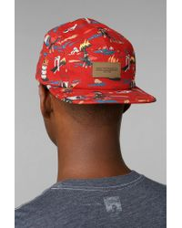 Urban Outfitters - Red Obey City Hunting 5panel Hat for Men - Lyst