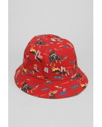 02e5fefd5d105 Lyst - Urban Outfitters Obey City Hunting Bucket Hat in Red for Men