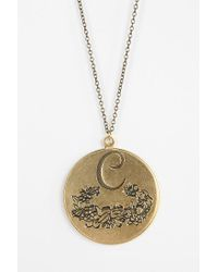 Urban Outfitters | Metallic Etched Initial Pendant | Lyst