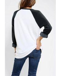 Urban Outfitters | Black Stussy No 4 Raglan Sweatshirt | Lyst