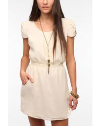 Urban Outfitters - Natural Pins and Needles Chiffon Slitback Dress - Lyst