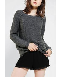 Urban Outfitters - Gray Sparkle Fade Slit Pullover Sweater - Lyst