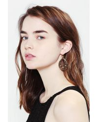 Urban Outfitters - Metallic Engraved Ear Cuff In Gold - Lyst