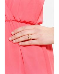 Urban Outfitters - Metallic Heart It Ring - Lyst