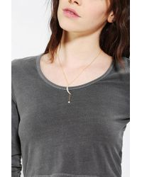 Urban Outfitters | Metallic Pave Moon Charm Necklace | Lyst