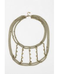 Urban Outfitters | Metallic Studded Layeredchain Necklace | Lyst