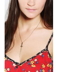 Urban Outfitters - Metallic Vanessa Mooney Sonnet Of The Sword Necklace - Lyst
