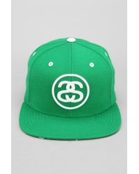 b18a3c3040f Lyst - Urban Outfitters Stussy Star Snapback Hat in Green for Men