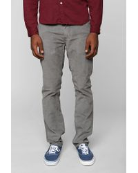 Urban Outfitters Gray Levis 511 Corduroy Pant for men
