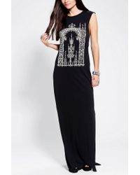 Urban Outfitters - Black Truly Madly Deeply Gates Muscle Maxi Dress - Lyst