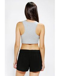 Urban Outfitters - Gray Out From Under Racer Back Cropped Bra Top - Lyst