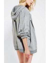 Urban Outfitters | Gray Oversized Zip Up Hoodie Sweatshirt | Lyst