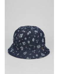 2c8e63e653e Lyst - Urban Outfitters Obey Serpico Bucket Hat in Blue for Men