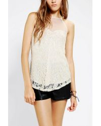 Urban Outfitters - White Kimchi Blue Sweetheart Lace Tank Top - Lyst