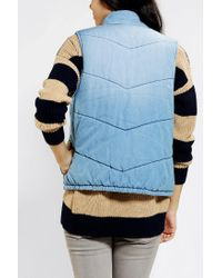 Urban Outfitters - Blue Bycorpus Denim Puffer Vest - Lyst
