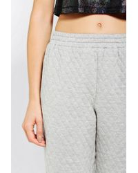 Urban Outfitters | Gray Sparkle Fade Quilted Sweatpant | Lyst